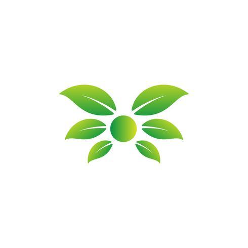 Natur Blatt Logo Design Vektor Illustration Icon-Element