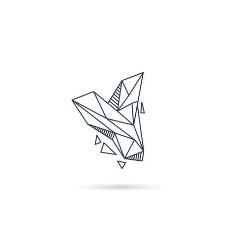 Logo-Designikonenschablonen-Vektorelement des Edelsteinbuchstaben y lokalisiert vektor