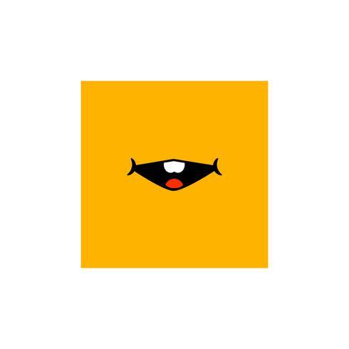 uttryckssymbolsymbol eller teckensamlingsvektorillustration vektor