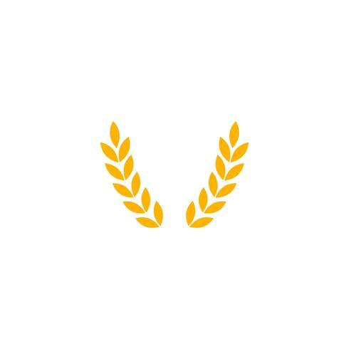 guld jordbruk gård linje emblem vintage logotyp mall vektor illustration