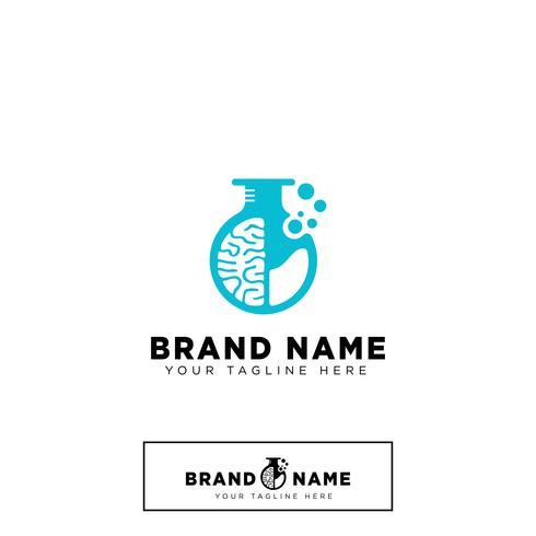 Brain Lab Logo design mall vektor illustration ikon element