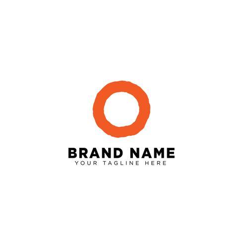 brev O logo design koncept minimal vektor illustration