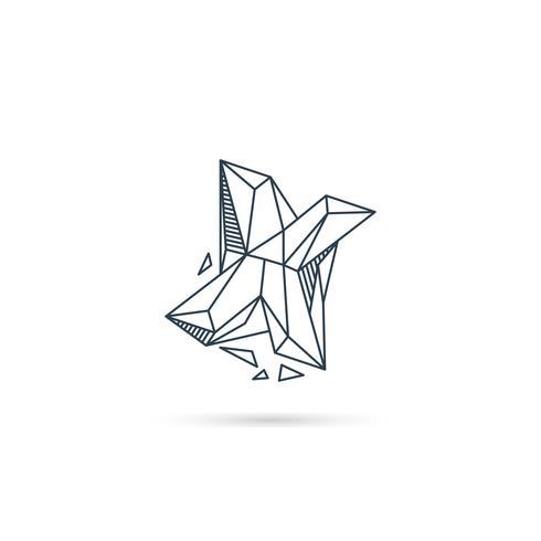 Logo-Designikonenschablonen-Vektorelement des Edelsteinbuchstaben x lokalisiert vektor