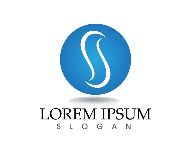 S brev Business corporate logo design vektor