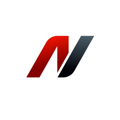 bokstav n-logotyp. hastighet logotyp design koncept mall vektor