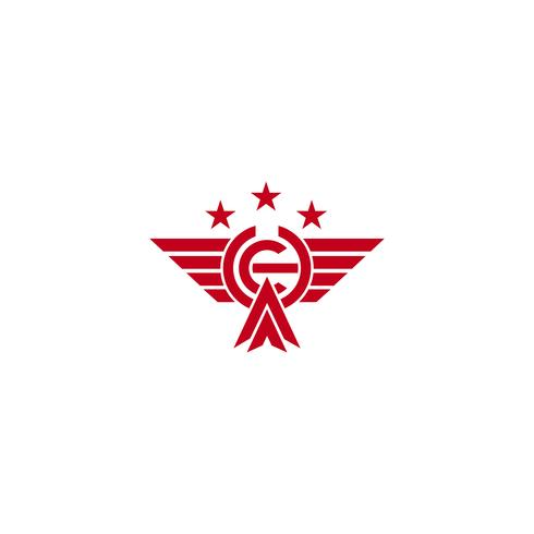 Iniitial CH fliegende Adler Vogel Logo Vorlage Vektor-Illustration und Inspiration vektor