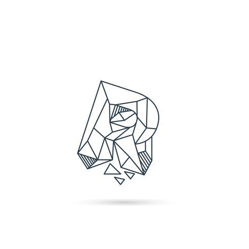 Edelstein Buchstabe r Logo Design Symbol Vorlage Vektorelement isoliert vektor