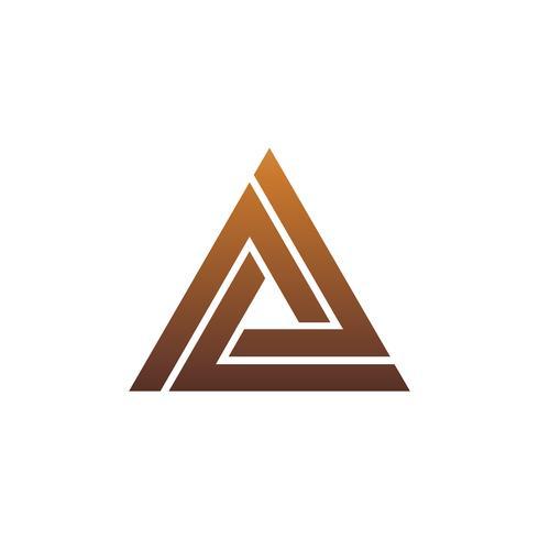 Luxus Brief A-Logo. Dreieck-Logo-Design-Konzept-Vorlage vektor