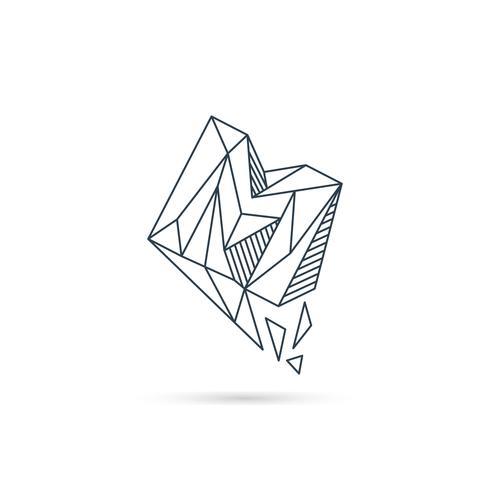 Edelstein Buchstabe m Logo Design Symbol Vorlage Vektorelement isoliert vektor