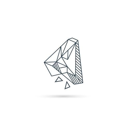 Edelsteinbuchstabe ein Logodesignikonenschablonen-Vektorelement lokalisiert vektor