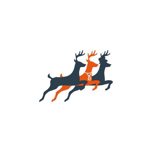 Hirsch springen kreative Logo Vorlage Vektor Illustration Symbol Element