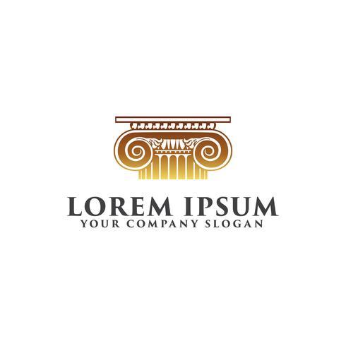 Gesetz Logo Design-Konzept-Vorlage vektor