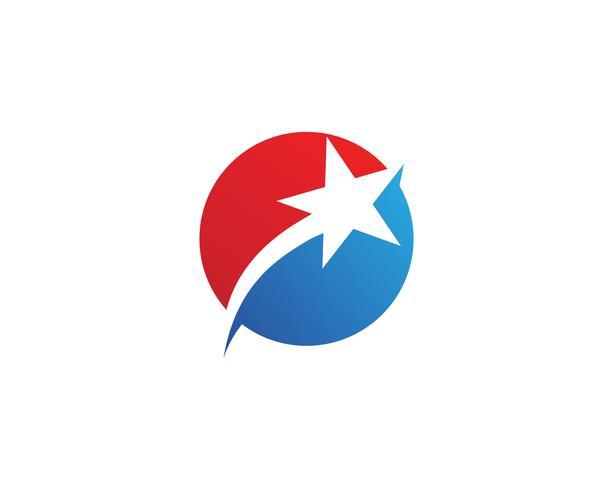 Stern Logo Template-Vektorikonen-Illustrationsdesign vektor