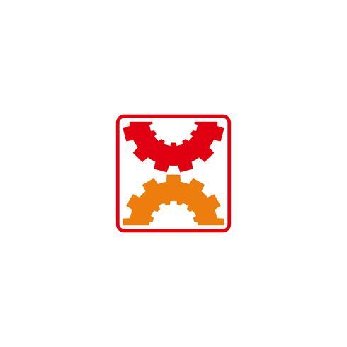 växel underhåll industriell idé logotyp mall vektor illustration