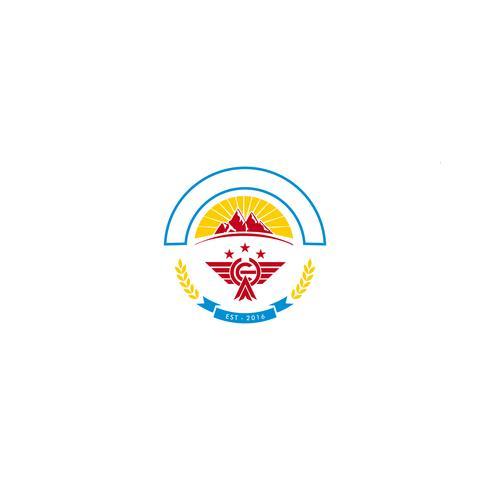 Berglandschaft Logo Vorlage Vektor-Illustration Symbol Element vektor