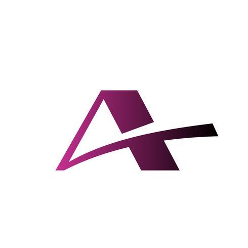brev A-logotyp. fastighets-taklogo designkonceptmall vektor