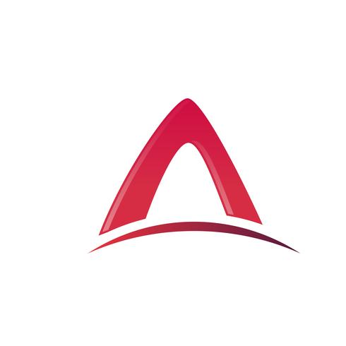 brev A-logotyp. arkitektur logo design koncept mall vektor