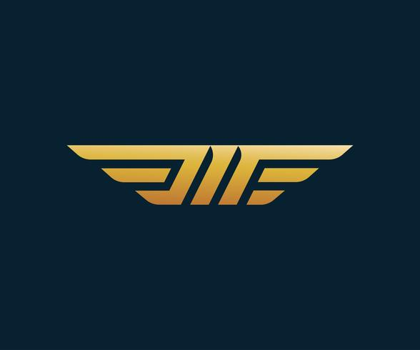 Buchstabe M Flügel Logo-Design-Konzept-Vorlage vektor