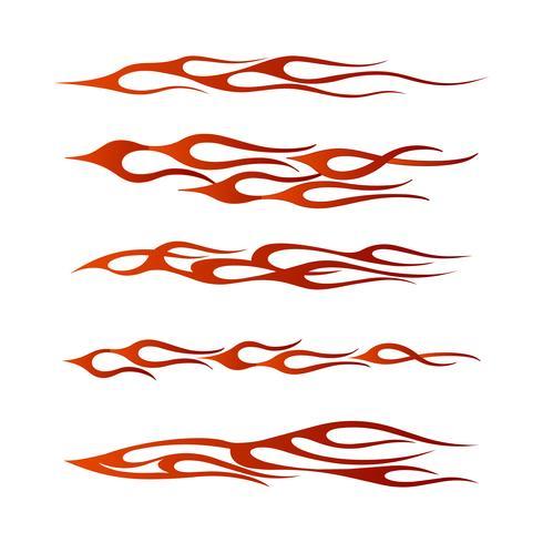 Stammes-Fahrzeug Grafik, Flamme Fahrzeug Grafik Wrap Design vektor