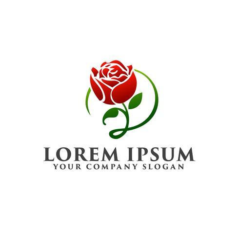 Rosen-Logo-Design-Konzept-Vorlage vektor