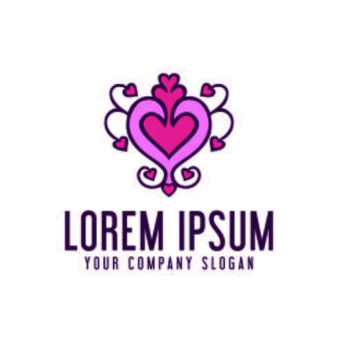 Liebe Dekoration Logo Design-Konzept-Vorlage vektor