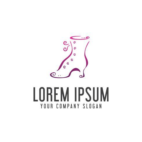 skor tillbehör logotyp. designkonceptmall vektor