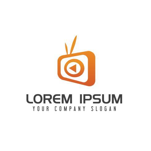 TV-Medien-Logo-Design-Konzept-Vorlage vektor