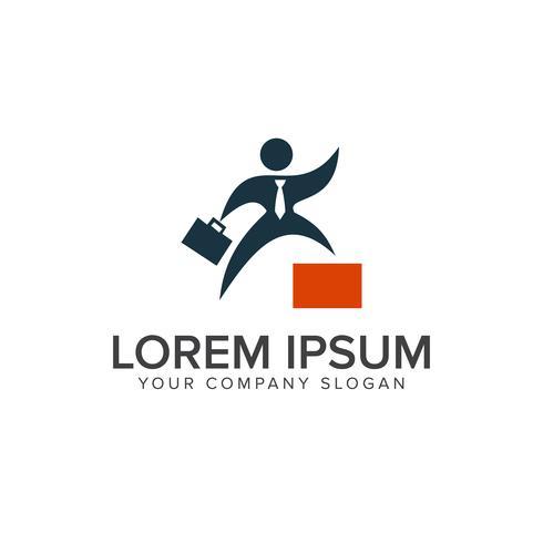 Erfolg Geschäftsleute Logo-Design-Konzept-Vorlage vektor