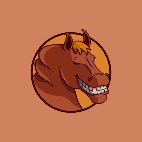 Lächeln Pferd Illustration Vektor-Design. vektor