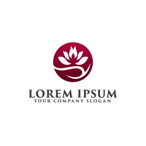 Lotus blomma logotyp, Beauty Fashion logotyp Mall design vektor