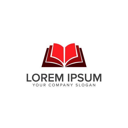 öppen bok utbildning logo design koncept mall vektor