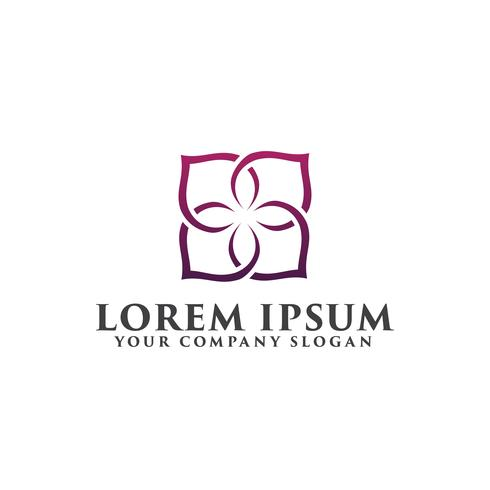 Blumendekoration Logo Design-Konzept-Vorlage. vektor