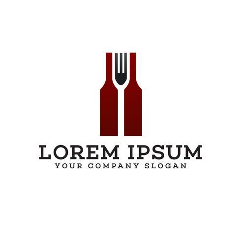 Bar Restaurant Logo Design-Konzept-Vorlage vektor