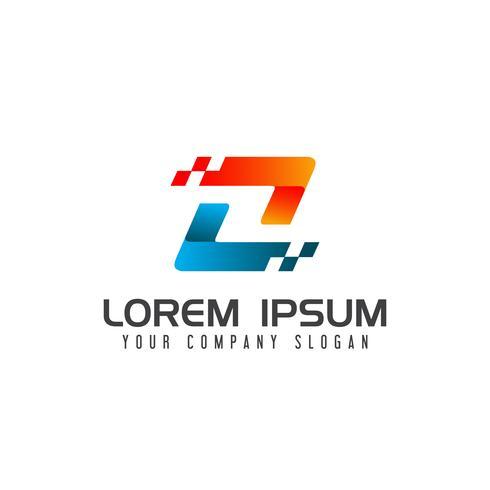 brev z logo, teknik logotyp design koncept mall vektor
