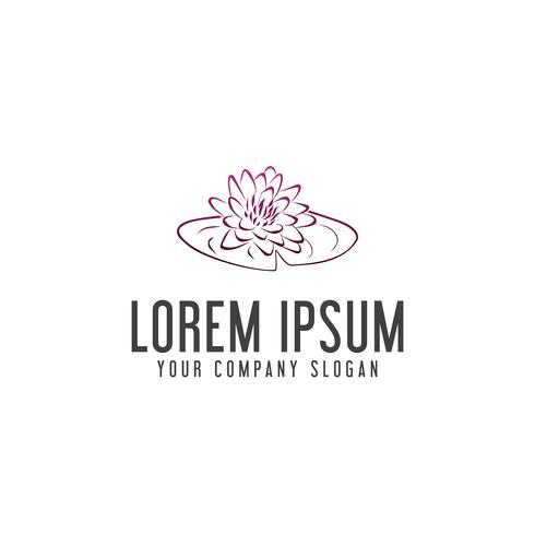 handgjord lilja blomma logotyp design koncept mall vektor