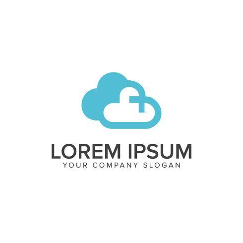 Cloud-Technologie-Logo-Design-Konzept Design-Konzept-Vorlage vektor