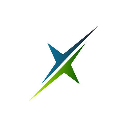 brev x logotyp. skiva logo design koncept mall vektor