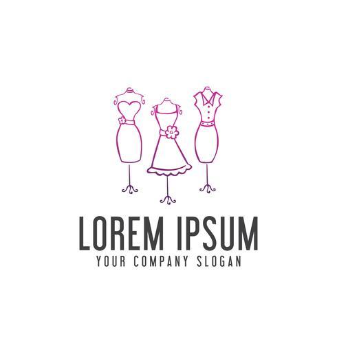 Frau Kleidung Logo-Design-Konzept-Vorlage vektor