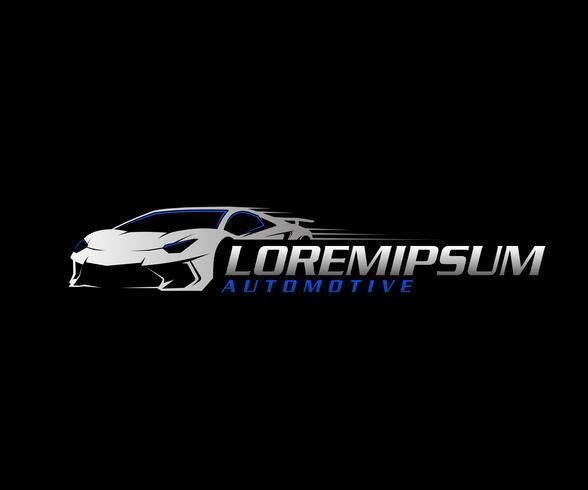 auto logo.sport bil logotyp design koncept mall vektor