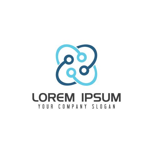 Healt medizinische Logo-Design-Konzept-Vorlage vektor