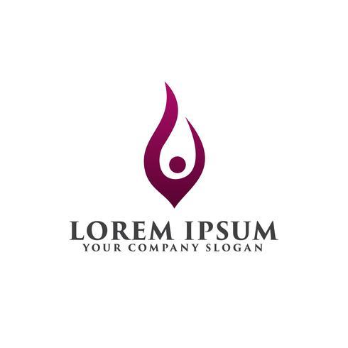 Menschen erhöhen Logo-Design-Konzept-Vorlage vektor