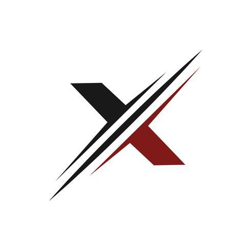 Buchstabe x Logo. Slice-Logo-Design-Konzept-Vorlage vektor