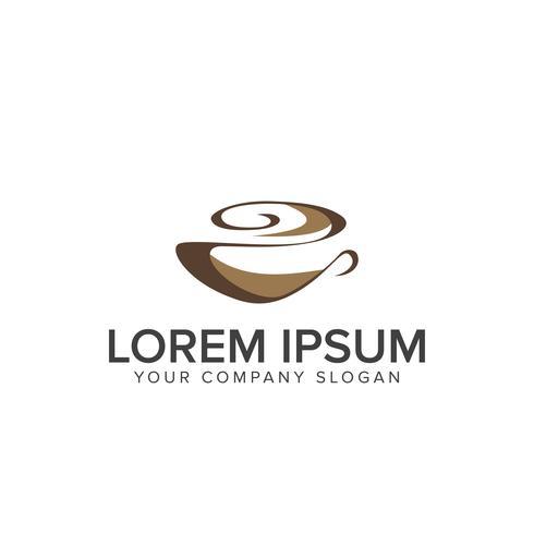 Kaffe logo. Mat och dryck logo design koncept mall vektor