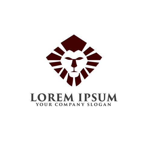 lyx lion logotyp design koncept mall vektor