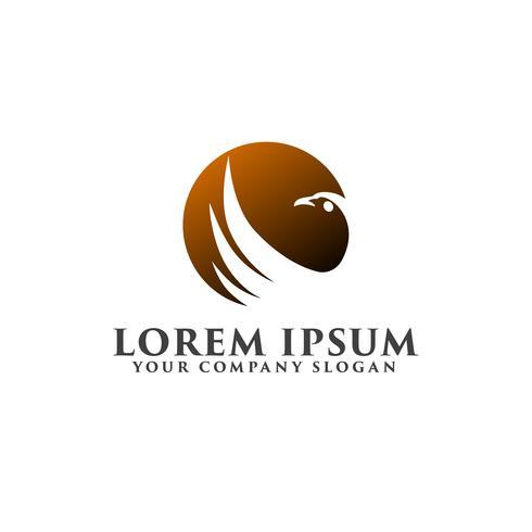 Vogelsonne Logo Design-Konzept-Vorlage vektor