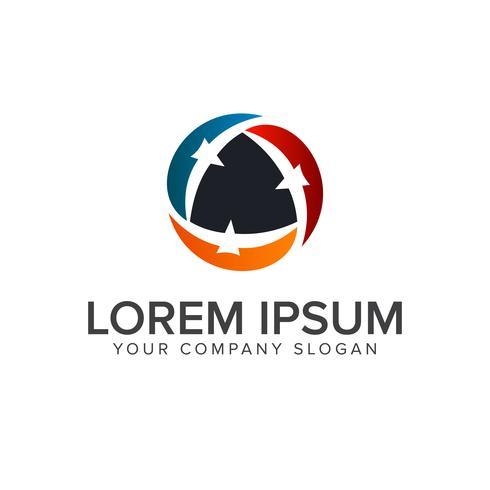 Vogel-Logo. Team-Logo-Design-Konzept-Vorlage vektor