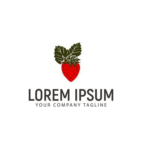 Erdbeer-Logo-Design-Konzept-Vorlage vektor