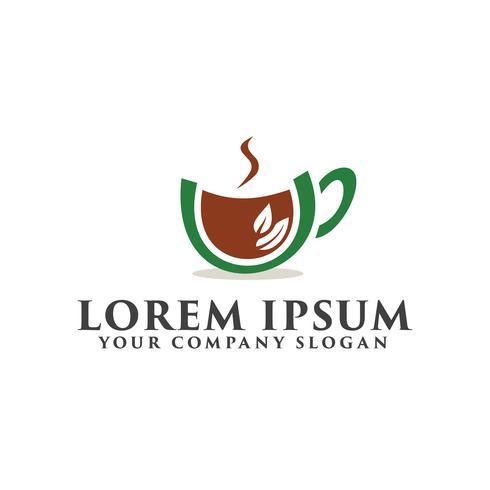 Kaffee grün Logo-Design-Konzept-Vorlage vektor