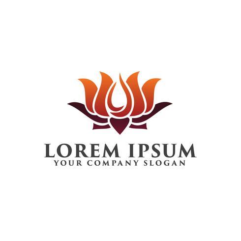 Lilly Blume Logo Design-Konzept-Vorlage vektor
