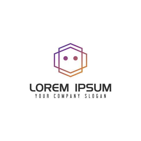 Modern Robot Logo designkonceptmall vektor